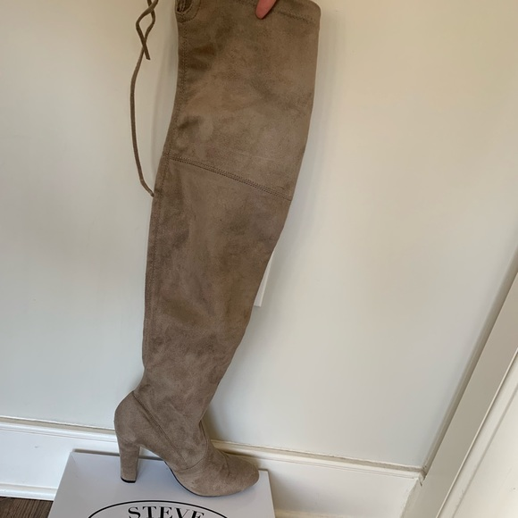 f2b41ce07f95f Steve Madden Tan Over the Knee Boots